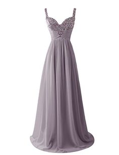 Dresstells Women's Long Straps Chiffon Prom Dress Ruffles Evening Dress Party Dress with Sequins Grey Size 6 Dresstells http://www.amazon.co.uk/dp/B00U8HQSRY/ref=cm_sw_r_pi_dp_zaLgvb1CQHMAY