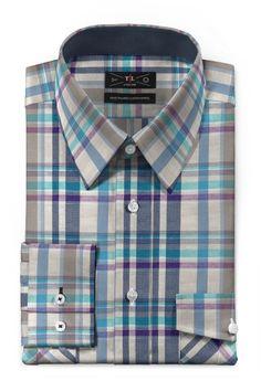 Blue checked linen Shirt - http://www.tailor4less.com/en-us/men/shirts/3385-blue-checked-linen-shirt