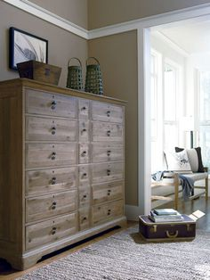 Think this is the line of bedroom furniture we want next.Paula Deen Down Home Line.Pictured is the Bubba's Chest - Hello, Lover! Home Bedroom, Bedroom Decor, Bedroom Chest, Bedrooms, Furniture Decor, Bedroom Furniture, Big Dressers, Large Dresser, Tall Dresser