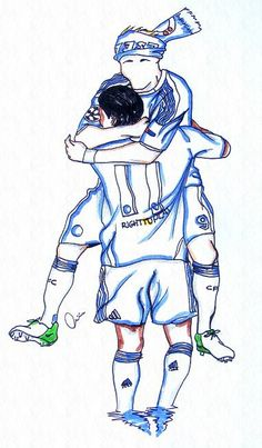 love this one #didier drogba & #fernando torres #chelseafc uefa champions league win moment..