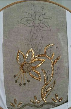 Best 12 embroidery to order, flowers from sequins, decoration on a dress – – Saree Embroidery Design, Zardosi Embroidery, Tambour Embroidery, Embroidery Works, Gold Embroidery, Hand Embroidery Stitches, Embroidery Fashion, Hand Embroidery Designs, Embroidery Techniques