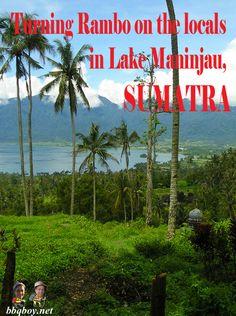 Misadventures in Sumatra: http://bbqboy.net/beautiful-lake-maninjau-west-sumatra-and-going-rambo-on-the-locals/  #lakemaninjau #Sumatra #indonesia