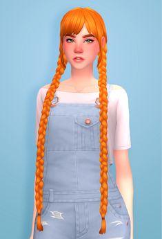 Lana CC Finds - simmandy: Cute and soft braids ♥ (~oh look. Sims 4 Cc Packs, Sims 4 Mm Cc, Sims 1, Sims 4 Mods, Fnaf, Pelo Sims, The Sims 4 Cabelos, Sims 4 Characters, Sims Hair