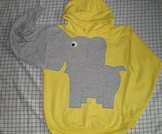 Elephant trunk sleeve HOODiE SUNSHINE by CreativeCallipipper, $52.00