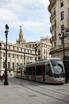 Tram in Seville, Spain
