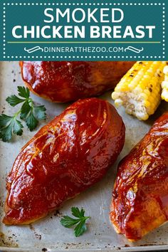 Smoked Chicken Breast - Dinner at the Zoo Popular Recipes, New Recipes, Vegetarian Recipes, Healthy Recipes, Cookbook Recipes, Soup Recipes, Bbq Chicken, Chicken Recipes, Chicken Meals