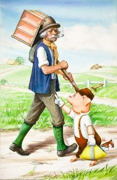 Pig met man with bricks - Three Little Pigs - Robert Lumley - Ladybird Books