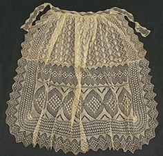 Beautiful lace apron is here simply because it is beautiful.