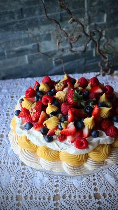 PAVLOVABOMBE!   Ida Maries mat Pavlova, Cheesecake, Strawberry, Baking, Desserts, Cakes, Food, Tailgate Desserts, Deserts
