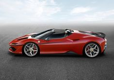 World premiere of the Ferrari created to celebrate the anniversary of Ferrari in Japan. The Ferrari is a two-seater, mid-rear-engined roadster… Ferrari F40, Ferrari 2017, New Ferrari, Lamborghini Gallardo, Maserati, Supercars, Bespoke Cars, Automobile, Roadster