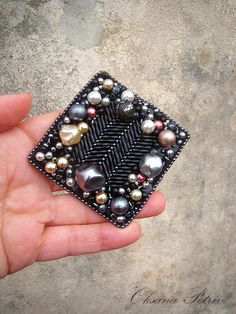 Hey, I found this really awesome Etsy listing at https://www.etsy.com/listing/220359053/bead-embroidered-brooch-beadwork-square
