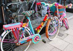 Gorgeous crochet bike in Whitstable