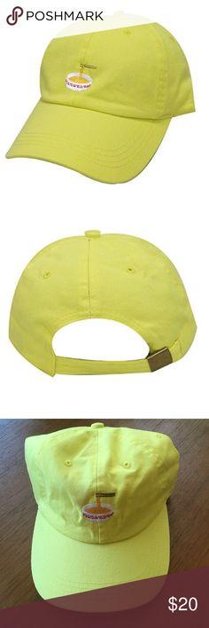 Noodles Dad Hat Color is lemon. 100% cotton. Embroidered design. Adjustable fit. City Hunter Accessories Hats #CityHunter
