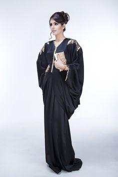 Pure Dahab Abaya is Fashioned using satin crepe fabric, this Abaya features golden sequin palm leaf detailing at the shoulders, sleeves and bodice. A chiffon-made hijab accompanies the piece.  #abayacollection #abaya #abayacouture #hijab #abaya #design #fashion #muslim #style #couture #KSA #USAmuslim #UKmuslim #EGYPT #Jordan #islamicfashion #jeddah #hijablover #hijaber #abayalover #hijabmodern #arabdesign  #hijaboutfit
