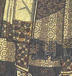 Орнаменты тканей на мозаике из Равенны