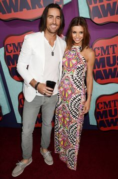 Jake Owen and Lacey Buchanan attend the 2014 CMT Music awards in Nashville, Tennessee. via StyleList