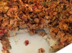 7 ww+ points Chicken Bruschetta Bake 1 can of diced tomatoes (14.5 oz), undrained 1 Stove Top for chicken 1/2 cup water 2 cloves garlic, minced 1.5 lb chicken breasts (cut into bite-sized pieces) 1 tsp. dried basil leaves 1 cup shredded mozzarella cheese Preheat oven to 400 degrees.MIX tomatoes, stuffing mix, water and garlic just until stuffing mix is moistened.PLACE chicken 9x11 casserole dish sprayed with cooking spray ..mozzerella cheese basil salt pepper stuffing 30 min