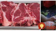 Geniálny trik, vďaka ktorému zázračne zmäkne každé mäso: Dokonca aj najtuhšie hovädzie sa bude rozpadať na jazyku! Modern Food, Food And Drink, Cooking Recipes, Vegetarian, Pizza, Beef, Kebabs, Free Time, Czech Republic
