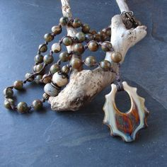 Handmade Spiky Porcelain and Rhyolite by ForMySweetDaughter