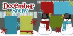 December Snow Page Kit  Out on a Limb Scrapbooking