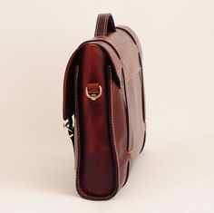 Leather Briefcase. Leather bag for laptop.....Designed by Ludena.
