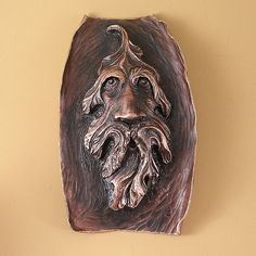 https://flic.kr/p/5hBdzK | greenman 1-1 | bronze leaf man, created with chasing and repoussé