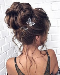 Long updo wedding hairstyles from mpobedinskaya - Hair styles 2019 - Hochsteckfrisur Wedding Hairstyles For Long Hair, Wedding Hair And Makeup, Wedding Updo, Braided Hairstyles, Grad Hairstyles, Prom Hair Updo, Flower Hairstyles, Bridesmaid Hairstyles, Bridal Hairstyle
