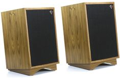 The new Klipsch Heresy III speakers are perfect for placing either on the floor or within a cabinet. These intuitive speakers offer an astounding sound reproduction, flexible positioning options, and a design that remains elegant and timeless