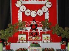 Ladybug dessert table