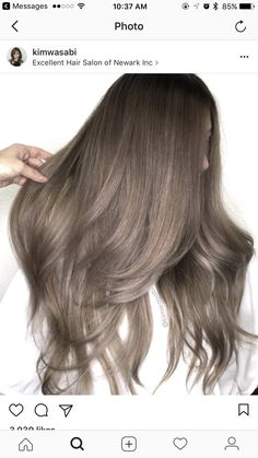 Trendy Hair Highlights : Ash brown hair colors, with their smoky and cool green, blue, and grey undertone… - Haar Ideen Different Brown Hair Colors, Ash Brown Hair Color, Blonde Color, Ash Hair, Brown Colors, Light Ash Brown Hair, Ombre Colour, Cool Brown Hair, Ash Grey Hair