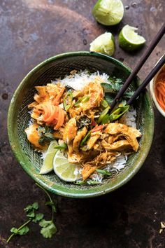 Instant Pot Thai Lemongrass Chicken | halfbakedharvest.com #instantpot #chicken #healthy #easy