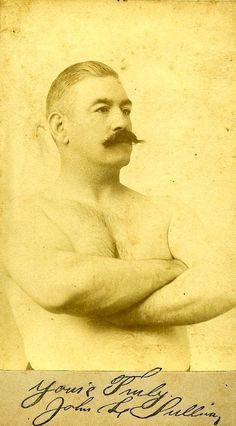 John L. Sullivan (1858-1918) The first world champion, from 1885-1892.