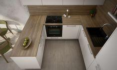 Kitchen Room Design, Modern Kitchen Design, Condo Interior, Home Interior Design, Küchen Design, House Design, Tiny Apartment Living, Kitchen Peninsula, Open Kitchen