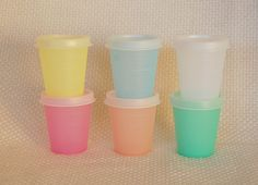 Vintage Tupperware Midgets, 2 ounce containers with seals.