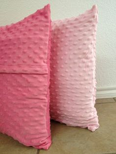 Minky dot pillow cases - my girls would love these! Goes with their special blankies.