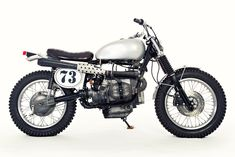 Sacrilege? An  English-style trials bike with BMW R80 power, from Dust Motorcycles.