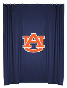 Auburn Tigers NCAA Sports Coverage Team Color Shower Curtain  #SportsCoverage #LockerRoom
