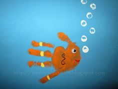 Handprint and Footprint Arts  Crafts: Handprint  Footprint Animal Canvas Art {Reader Submission}