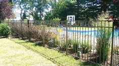 Ascot 3-rail style Aluminum Pool Fencing Aluminum Pool Fence, Home Estimate, Fence Landscaping, Ascot, Fencing, Recycling, Environment, Things To Come, Outdoor Structures