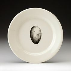 """6"""" Bread Plate: Jungle Fowl Egg White - Feather & Egg - Collections"""