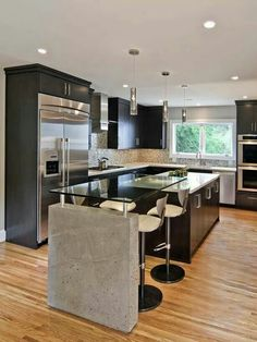 Kitchen with integrated dining