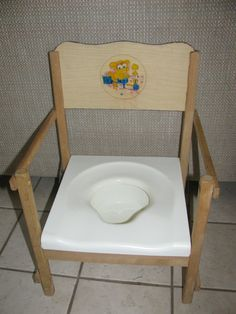 Vintage Nu Line Childs Potty Chair