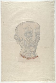 """Kiki Smith - Untitled, 1995 - Woodcut with collage additions. composition (irreg.): 15 1/16 x 10 3/16"""" (38.2 x 25.8 cm); sheet (irreg.): 31 1/4 x 20 1/2"""" (79.4 x 52 cm). Benefit for Foundation for Contemporary Performance Arts, Inc., New York. Universal Limited Art Editions, West Islip, New York, West Islip, New York. 47. Gift of Emily Fisher Landau. 66.1996. © 2016 Kiki Smith. Drawings and Prints"""