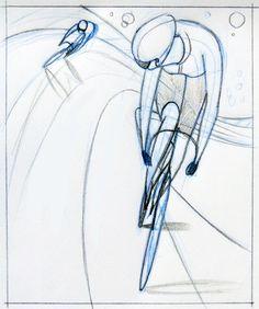 bicycling sketch