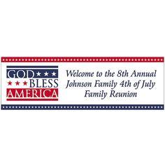 "Personalized+""God+Bless+America""+Banner+-+Medium+-+OrientalTrading.com"