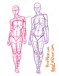 Learn to draw people - the female body anatomy reference & f Human Anatomy Drawing, Female Drawing, Human Figure Drawing, Figure Sketching, Figure Drawing Reference, Body Drawing, Drawing Base, Anatomy Art, Art Reference Poses