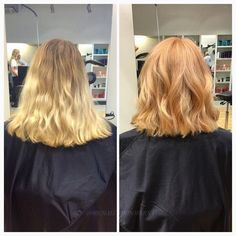 En superhärlig, lite kortare strawberry blonde! #strawberryblonde #ghd #cutandcolor More