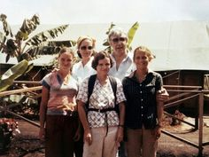 Congressman Leo Ryan With Phyllis, Judy {unidentified in front of bottom row} and Patty Houston in Jonestown November 18 Jonestown Massacre, Cult Of Personality, Change The World, Houston, Leo, The Outsiders, Death, Christian, In This Moment