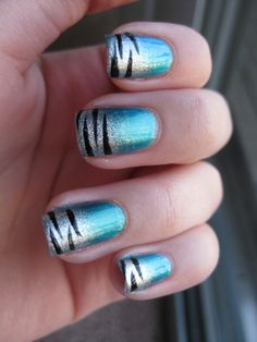 Simple zebra tips nail art