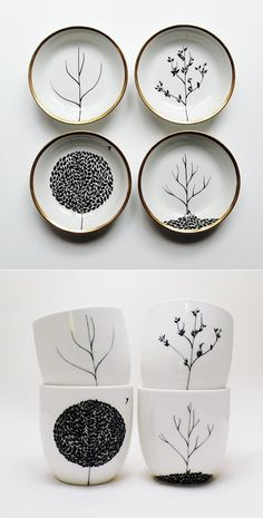 I can do this with the Sharpie. Mug, Sharpie design on mug, 350 degree oven for 30 min. Art! @ Home Decor Ideas